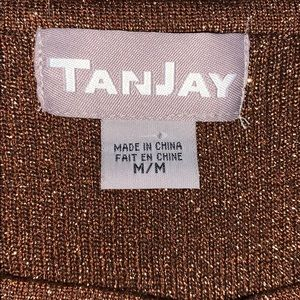 TanJay Tops - TanJay sparkly copper colored and beaded tank top